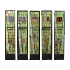 Five 19th Century Stained Glass Panels from France