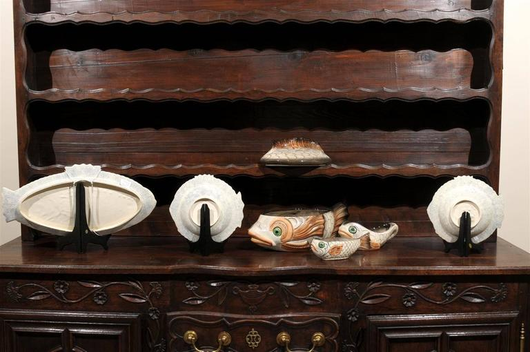 Midcentury french boulliabase fish set circa 1970 for for L fish furniture