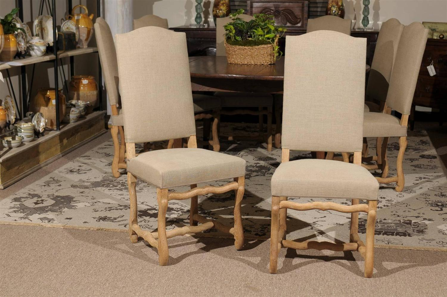 Set Of Eight Vintage Louis XIII Style Dining Chairs At 1stdibs