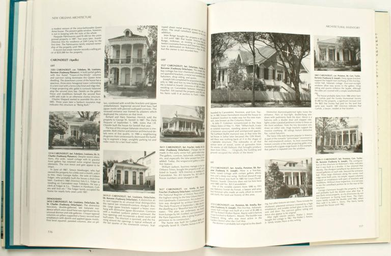 20th Century New Orleans Architecture Vol. VII Jefferson City, First Edition For Sale