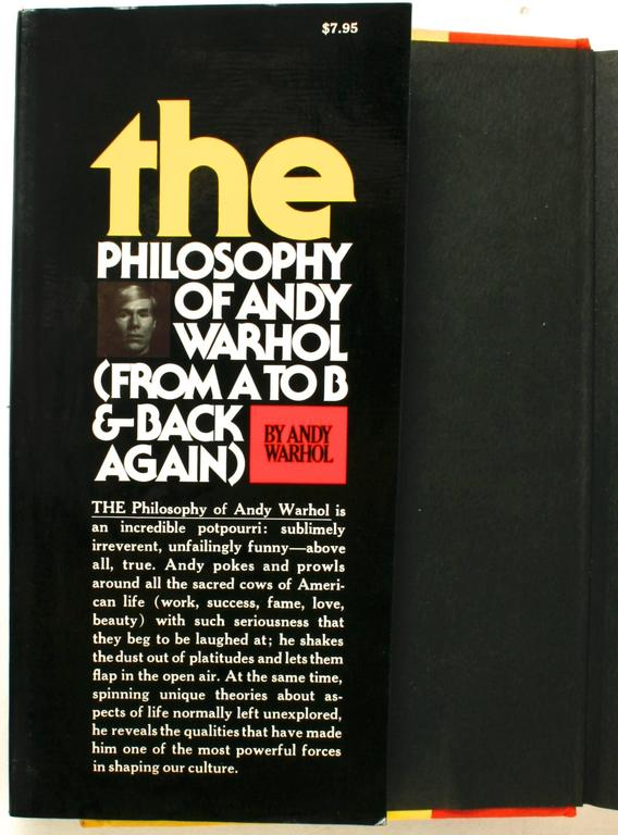 The Philosophy of Andy Warhol From A to B and Back Again signed 1st ED. 1975