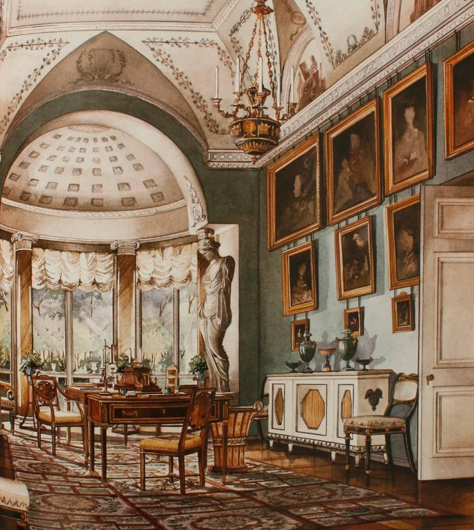 Paper Russian Furniture: The Golden Age 1780-1840 1st Ed by Antoine Chenevière For Sale