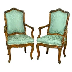 Pair of Italian Armchairs, circa 1725