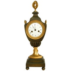 Ormolu and Patinated Bronze French Directoire Striking Clock, c1790