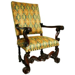 Italian Baroque Walnut Armchair by Andrea Fantoni, c1690