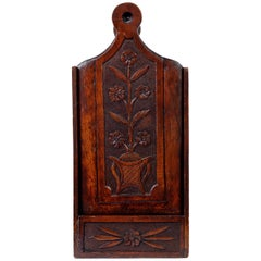 French Walnut Candle Box, circa 1800