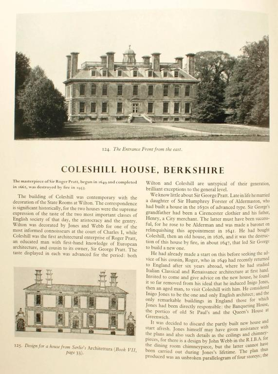English Country Houses Caroline 1625-1685, First Edition For Sale 4