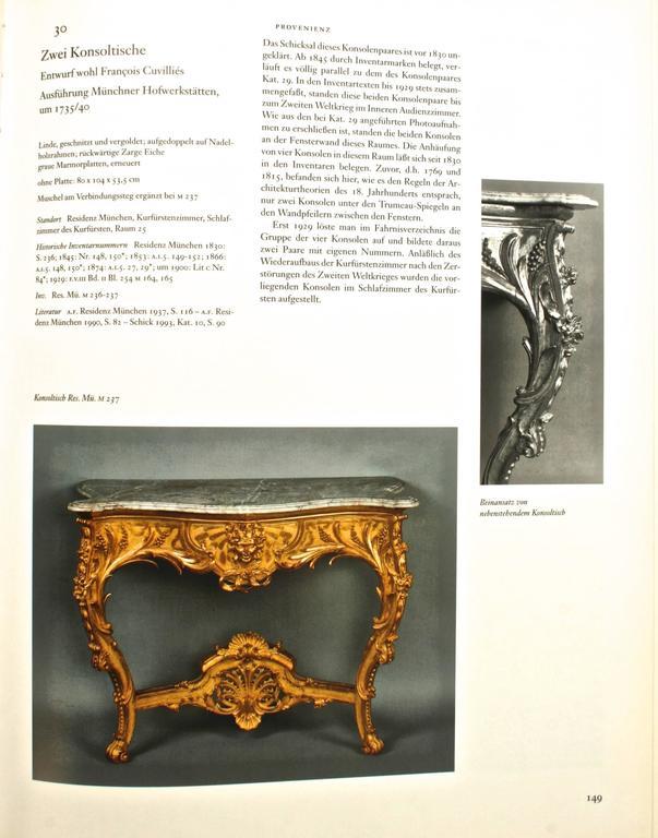 Die Möbel Der Residenz München, First Edition For Sale 2