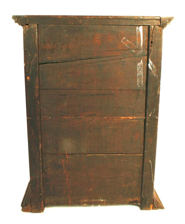 Louis XIV Inlaid And Carved Walnut Wall Cabinet, Circa