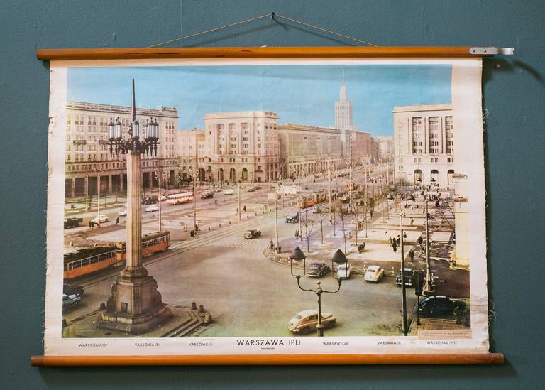 Set of Three Mid Century European Pictorial Charts of Warsaw, Belgrade & Vaduz 3