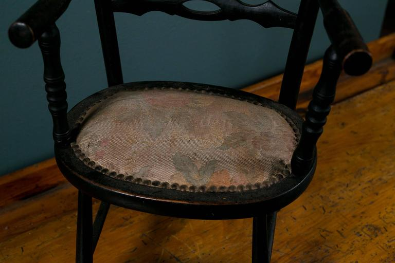 Upholstered Wood Napoleon III  Child's Arm Chair from France, circa 1890 3
