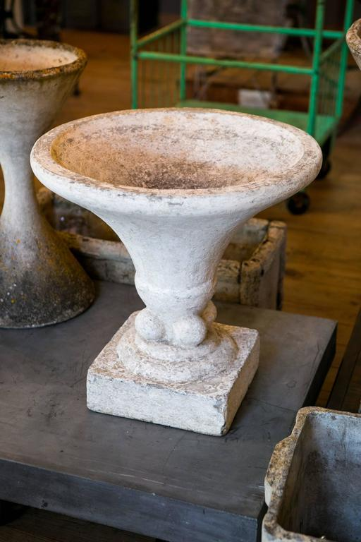 Vintage Concrete Footed Planter From Italy Circa 1920 For