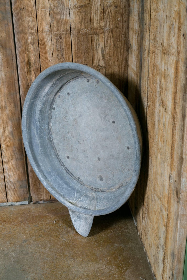 Over-Sized Industrial Zinc Bowl with Spout 2
