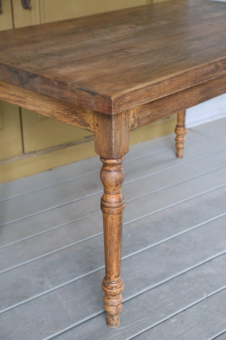 Vintage Wood Farm Table from Belgium, circa 1920 4
