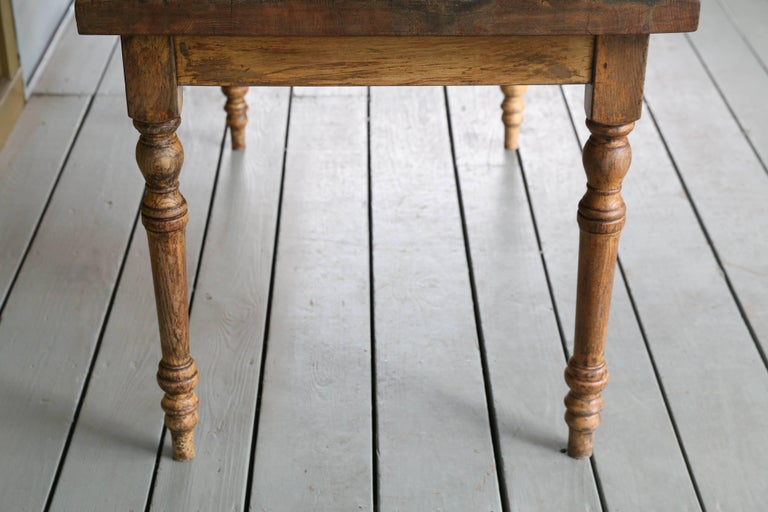 Vintage Wood Farm Table from Belgium, circa 1920 7