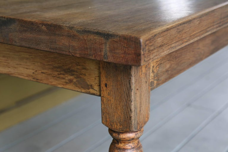 Vintage Wood Farm Table from Belgium, circa 1920 8