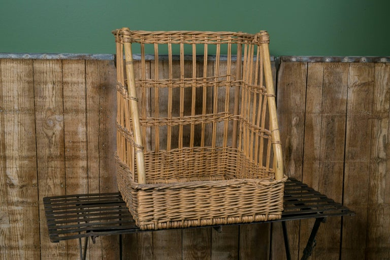 Vintage Wicker Baguette Basket from France, circa 1960 2