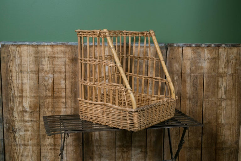 Vintage Wicker Baguette Basket from France, circa 1960 3