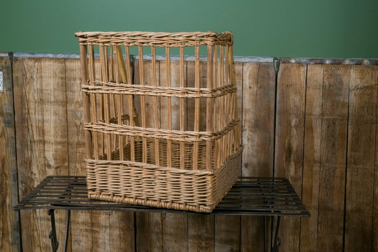 Vintage Wicker Baguette Basket from France, circa 1960 4