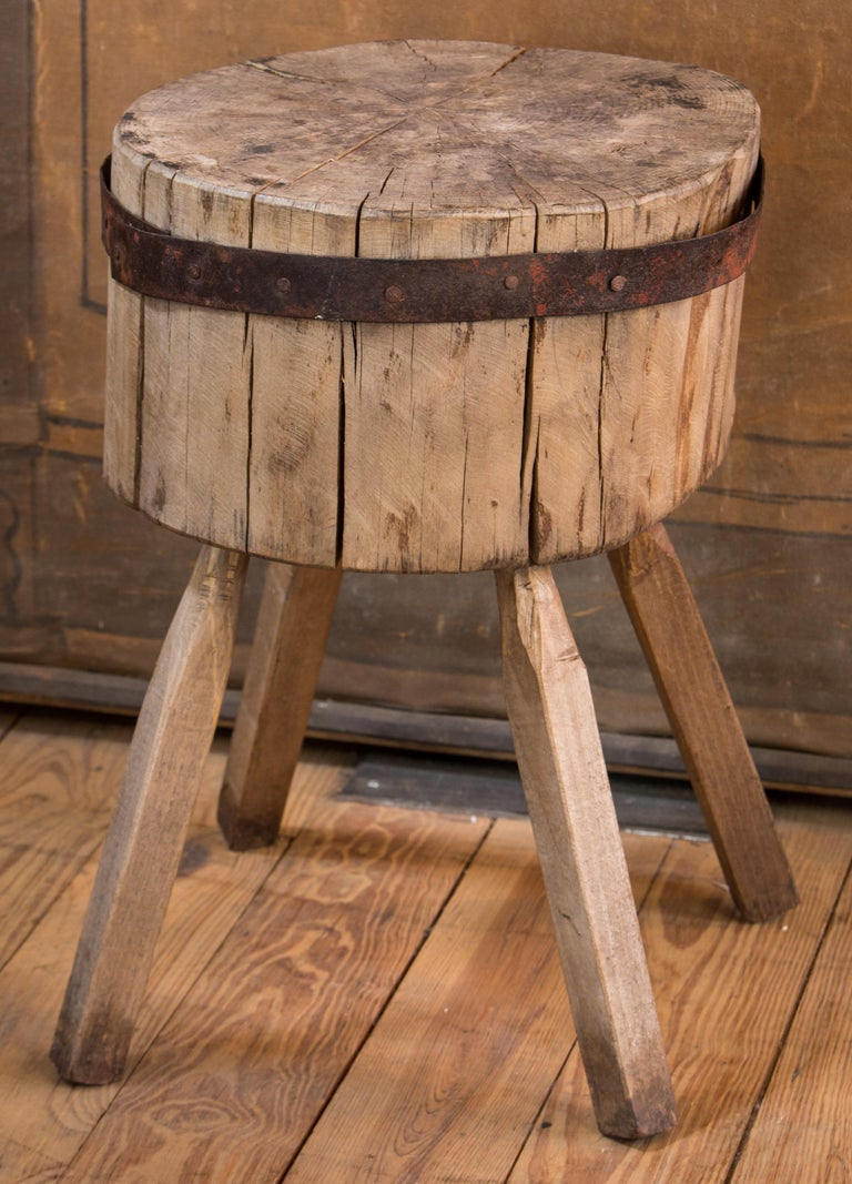 This charming, simple, butcher block would also make an interesting end table.