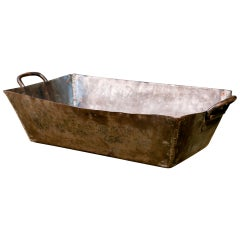 German Metal Handcrafted Industrial Trough, circa 1930