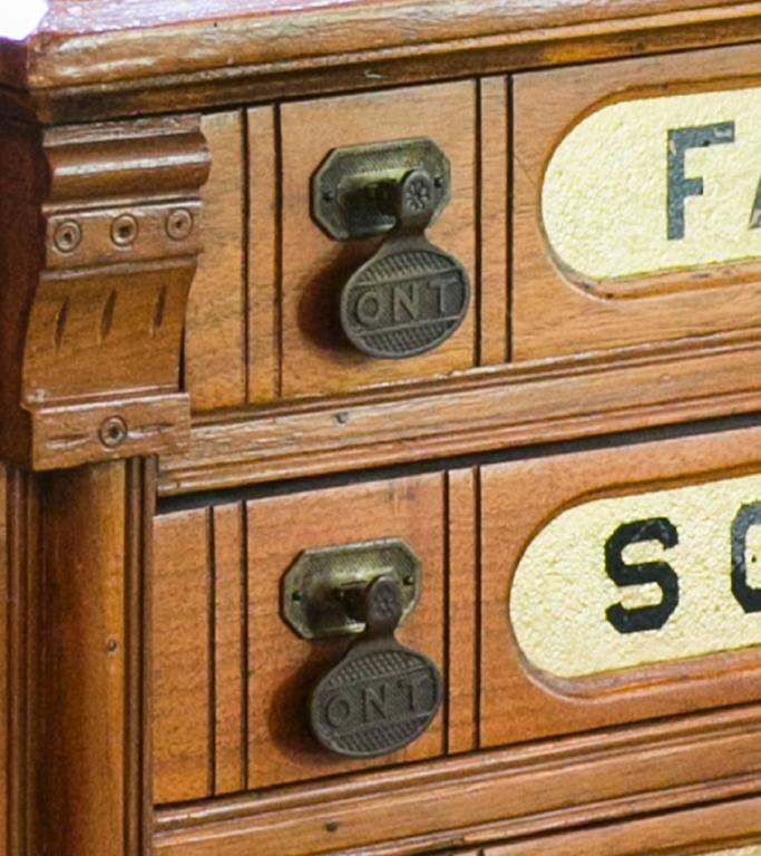 Antique Clark's Six-Drawer Spool Cabinet at 1stdibs