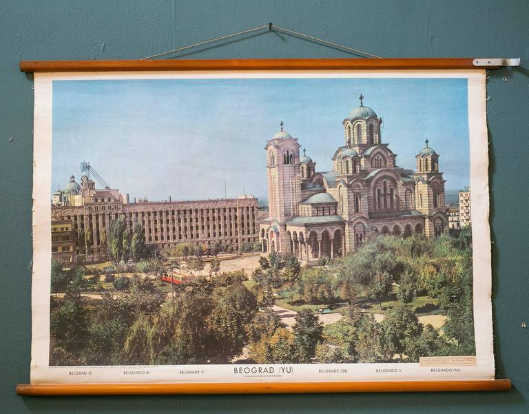 Set of Three Mid Century European Pictorial Charts of Warsaw, Belgrade & Vaduz 2