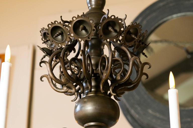 Magnificent Bronze Dutch Baroque Flemish Style Chandelier from Belgium circa 188 3