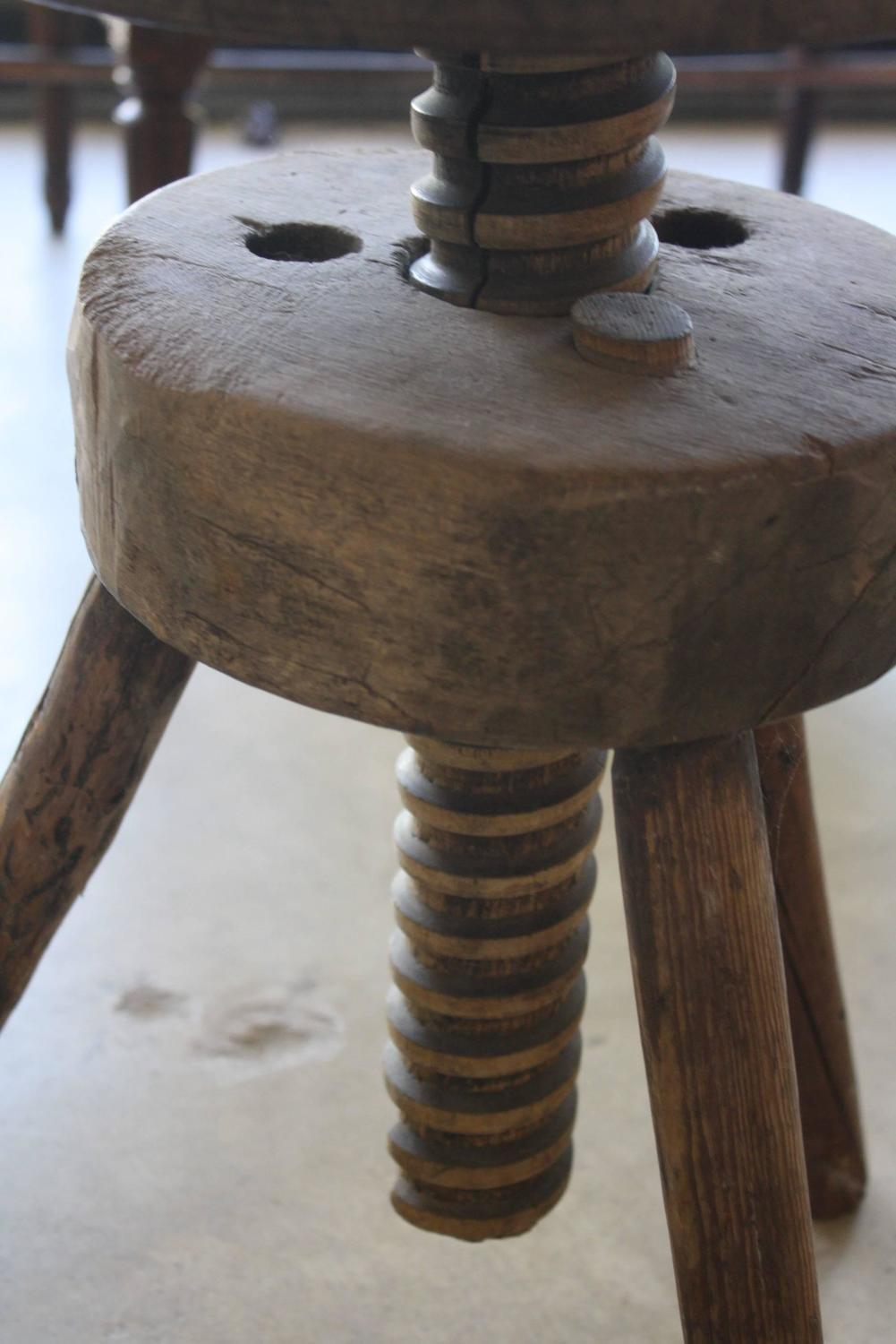 Vintage Adjustable Artist Stool At 1stdibs