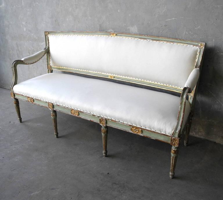 Antique reclaimed 18th century italian canape bench for for Canape for sale