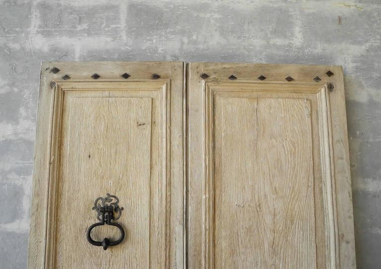 Pair of Antique 18th Century Entrance Doors from St. Marcellin In Excellent Condition For Sale In Houston, TX