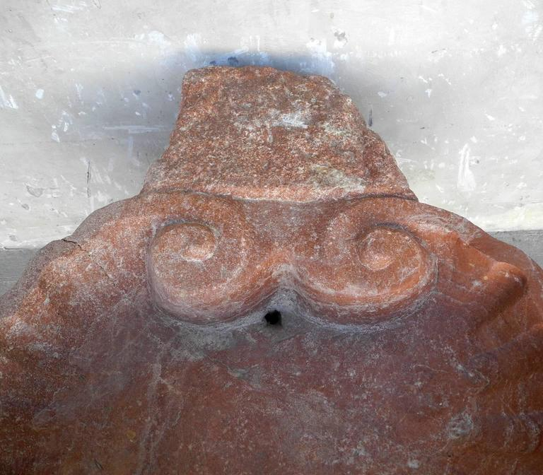 Italian Antique 17th Century Trapani Marble Carved Sink from Sicily For Sale