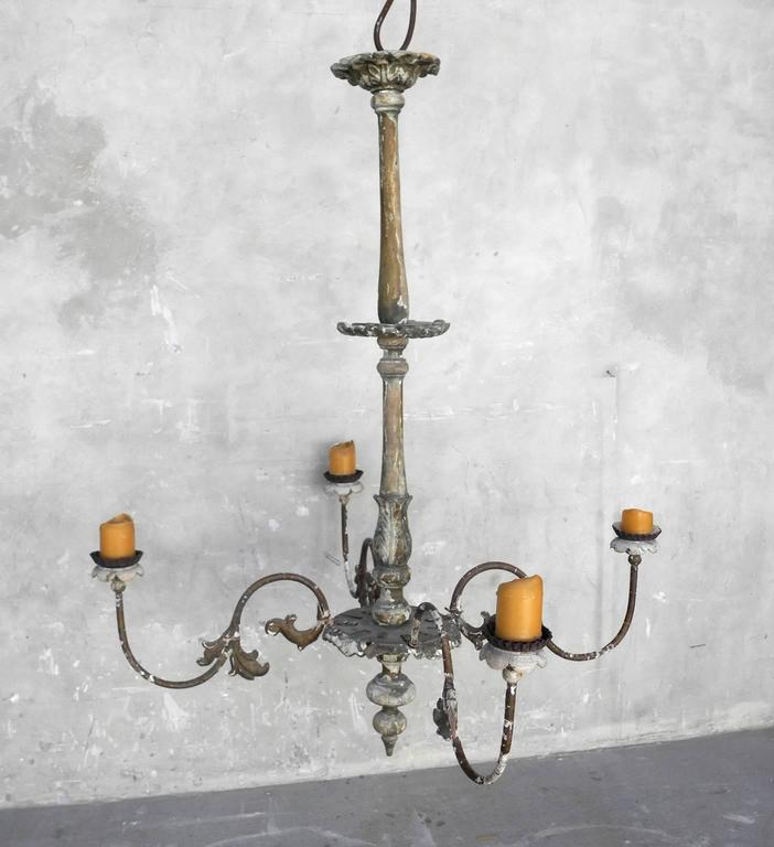 19th Century French Chandelier with Four Candelabra Arms 2