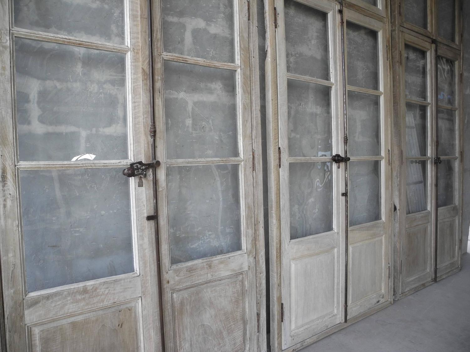 Antique Reclaimed Large Wooden Windows From Sisteron With