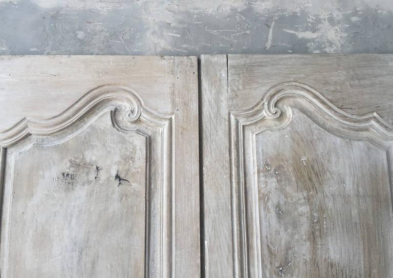 Two Pairs of Matching Antique Cabinet Doors with Reclaimed Hardware 3