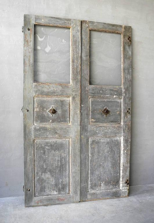 Pair of 18th Century Communication Doors from a Maison de Maitre in Uzes, France 3