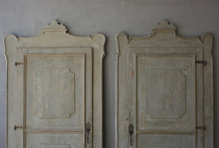 19th Century Italian Doors with Carved Frame In Good Condition For Sale In Houston, TX
