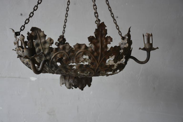 Late 19th century Italian tole chandelier.