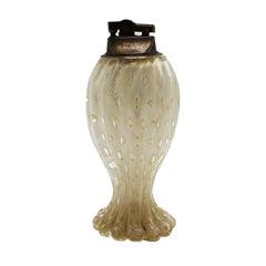 Murano Glass Bullicante Lighter with Bubble Inclusions, circa 1960