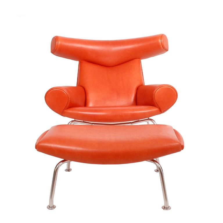 OX Chair And Ottoman By Hans Wegner At 1stdibs