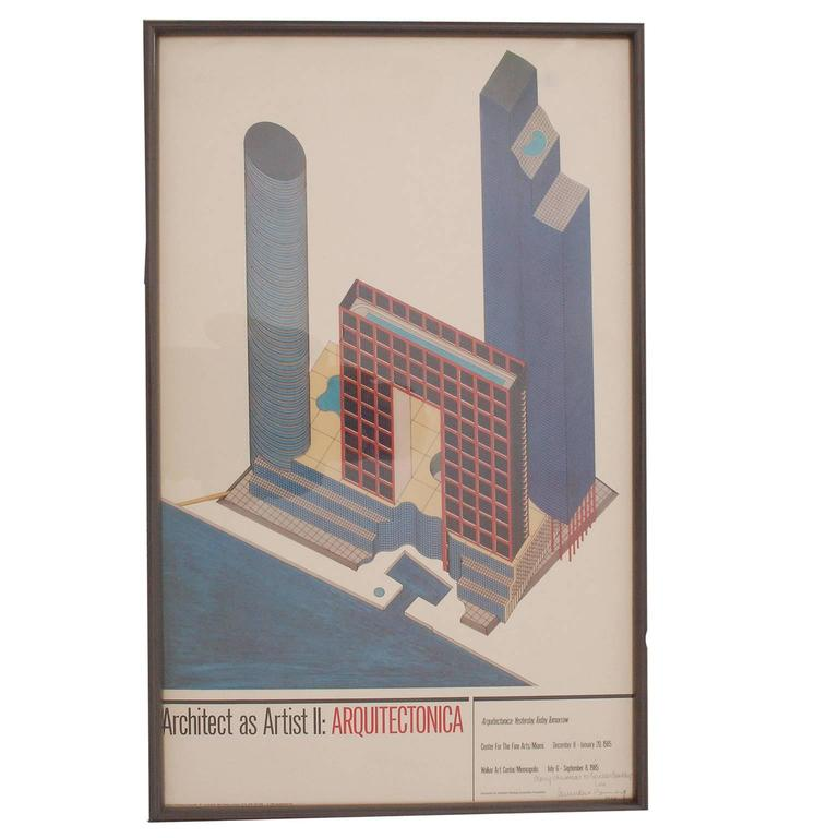 Arquitectonica Poster, 1984 For Sale