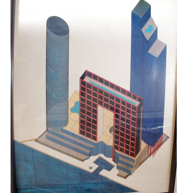 American Arquitectonica Poster, 1984 For Sale