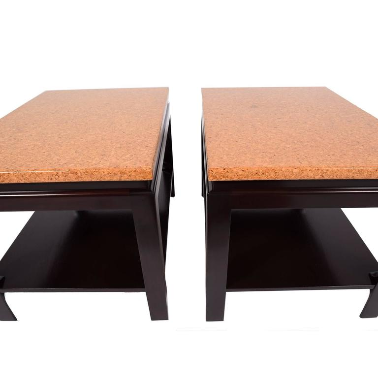 American Pair of Side Tables by Paul Frankl for Johnson Furniture For Sale