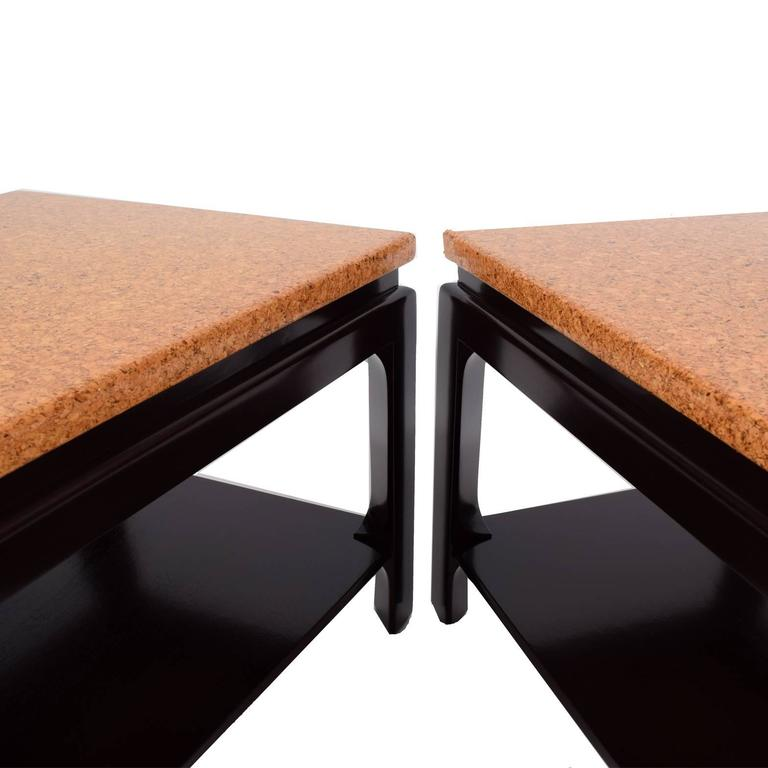 American Modern Pair of Side Tables by Paul Frankl for Johnson Furniture For Sale