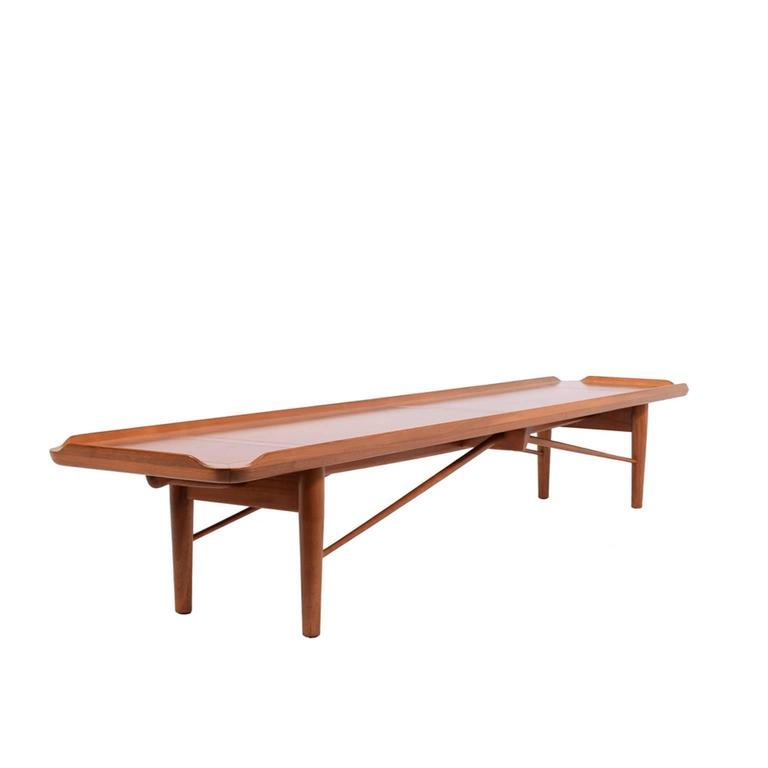 Terrific Long Walnut Bench By Finn Juhl For Baker Modern At 1Stdibs Pabps2019 Chair Design Images Pabps2019Com