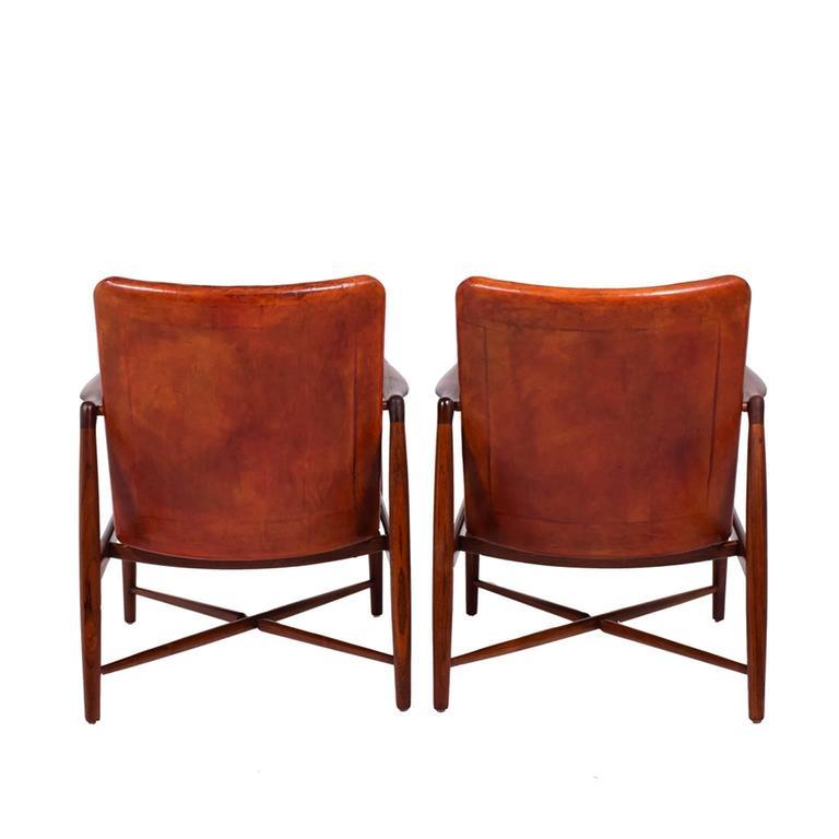 Danish Pair of Finn Juhl Chairs for Bovirke, 1946 For Sale