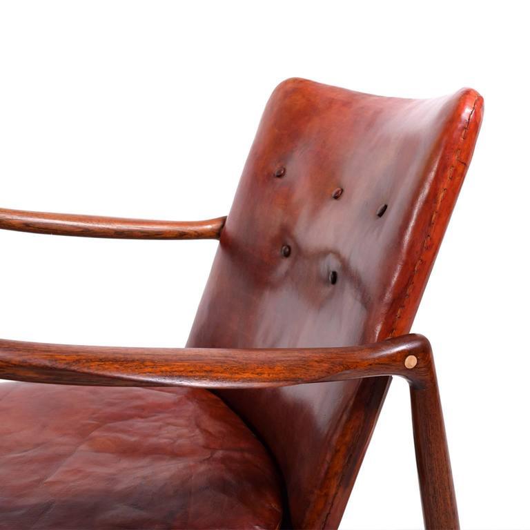Pair of Finn Juhl Chairs for Bovirke, 1946 For Sale 1