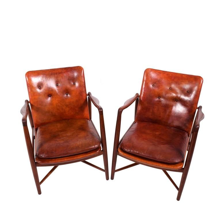Pair of Finn Juhl Chairs for Bovirke, 1946 In Good Condition For Sale In Dallas, TX