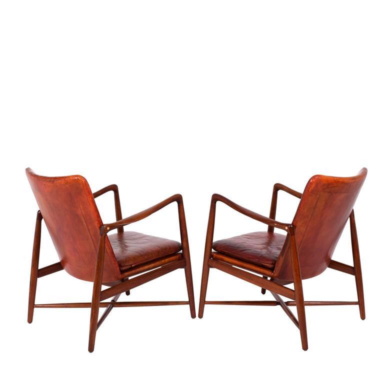 Scandinavian Modern Pair of Finn Juhl Chairs for Bovirke, 1946 For Sale