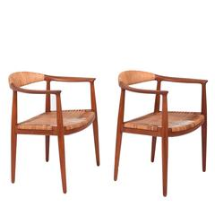 "Pair of ""Classic"" Chairs by Hans Wegner for Johannes Hansen"